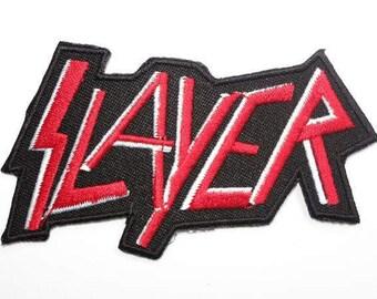 "SLAYER Thrash Metal Embroidered Iron On Patch 3.5""x2"""