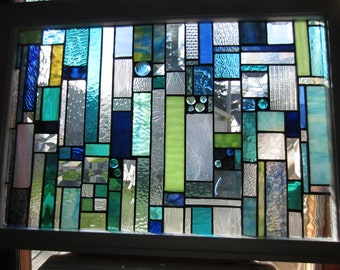 Stained Glass Sea Glass panel