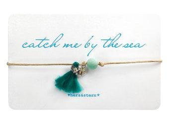 """catch me by the sea """"fish"""" - good luck bracelet, glücksbändchen, bracelet, armband"""