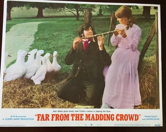 Lobby card for Far From the Madding Crowd, Bates, Christie and Goose