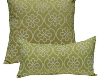 Decorative Pillow Cover Medallion Green