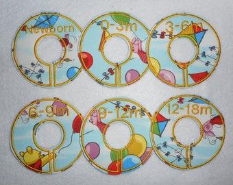 pooh balloons mini divider set
