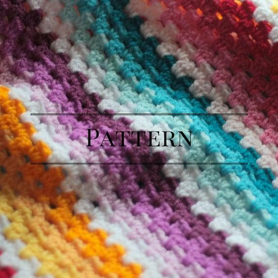 Granny Stripe Baby Blanket, Ombre Easy Beginner baby afghan crochet ...