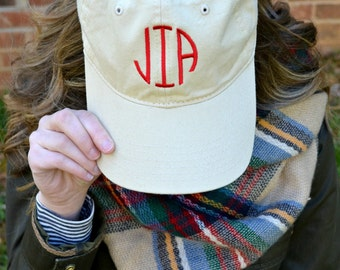 Monogrammed Baseball Cap- Personalized Ball Hat- Adult Monogram Ball Cap- Women's Initial Baseball Hat- Embroidered Caps-Ladies Hat