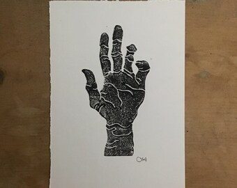 Hand linoprint