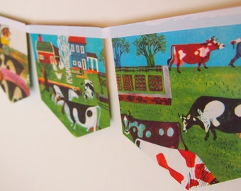 Little Golden Book Bunting - Old Macdonald Had a Farm (vintage)
