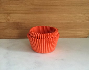 Solid Orange Cupcake Liners, Standard Sized, Baking Cups (50)