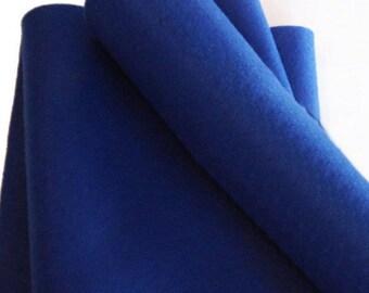 Fieltro de color Azul Oscuro, rollo fieltro, Tamaño 25 cm x 90 cm, fieltro muy suave al tacto, fieltro acrilico, fieltro de gran calidad