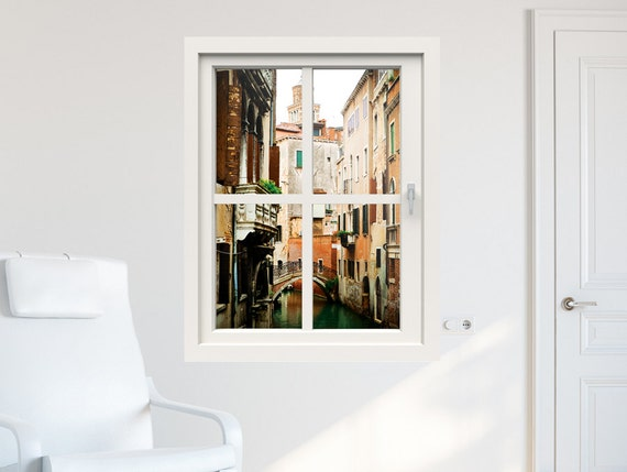 3d window wall decal window to venice wall stickers for