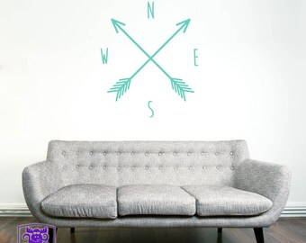 North South East West Wall Decal Decor