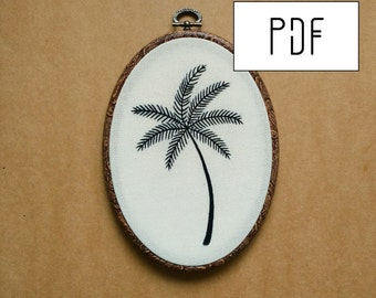 PDF pattern - Palm Tree Hand Embroidery Pattern (PDF modern embroidery pattern)