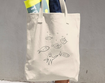Fishies and things Cotton Tote Bag