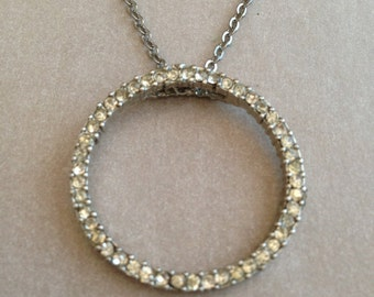 Vintage Circle of Stones Necklace