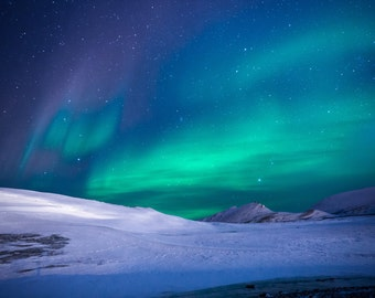 Polar Night - Polar Lights Photo - Sky Photo - Northern Lights Photo - Last Minute Gift - Digital Photo - Digital Download - Home Decor