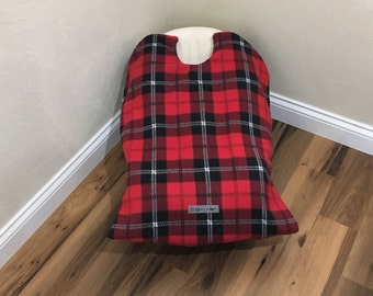 Infant Car Seat Blanket, car seat cover, plaid car seat cover, car seat carrier blanket, car seat coat, baby carrier blanket, baby gift