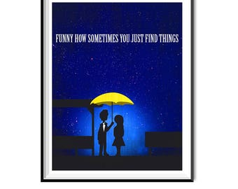 Ted Mosby and Mother Love - Poster A1 - 23.4 x 33.1 in- How I Met Your Mother - Art Print, Multiple Sizes, Custom Size- Modern Minimal Style