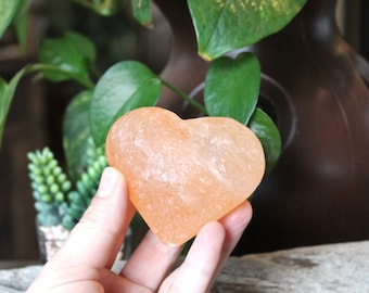 "3"" Himalayan Salt Heart, Himalayan Salt Decor, Wiccan Altar Supplies, Natural Home Decor, Boho Style, Healing Stone, Chakra, Reiki, Pagan"
