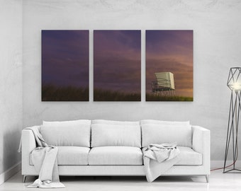 Lifeguard House - panels art canvas print wall home decor interior design