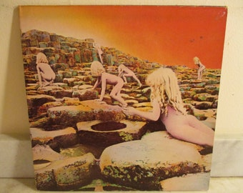 Vintage 1973 LP Vinyl Record Led Zeppelin Houses of the Holy Very Good Condition 16276