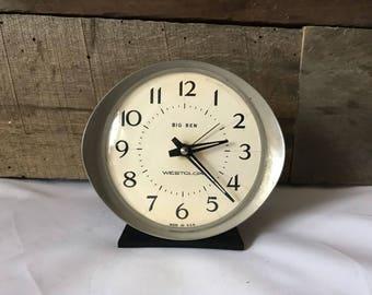 Vintage Westclox clock, Big Ben clock