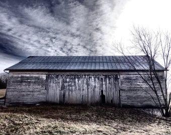 Barn Photography, White Barn Photograph, Barn Photograph, Weathered Barn Photography, White Barn Photography, Barn Art, Rustic Barn Photo