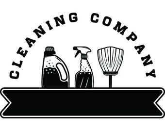 Cleaning Logo #35 Maid Service Housekeeper Housekeeping Clean Vacuum Mop Floor Laundry .SVG .EPS .PNG Clipart Vector Cricut Cutting Download