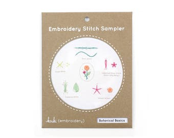 Botanical Basics - Embroidery Stitch Sampler