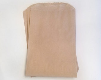 paper kraft bags - treat bag - wedding favor bags - flat paper bag - gift bags - kraft paper bags - brown paper bags - set of 20 bags