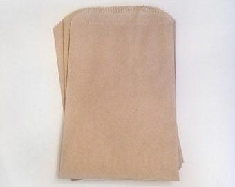 paper kraft bags - treat bag - wedding favor bags - flat paper bag - gift bags - kraft paper bags - brown paper bags - set of 20 bags