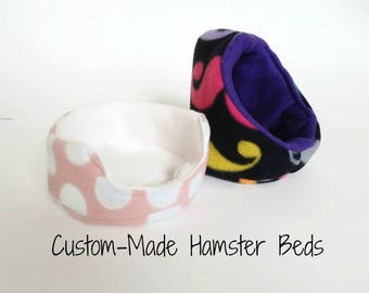 Custom Hamster Bed - Cuddle Cup or Hooded Bed