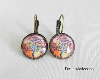 """Fancy """"Tree of life"""" earrings 10"""