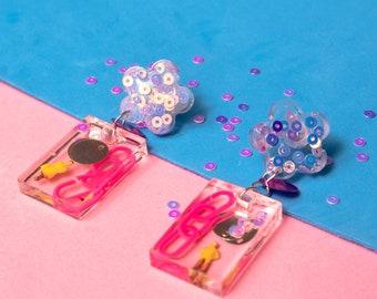 LITTLE FRIEND-handmade drop earrings