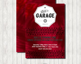 Garage Themed PRINTABLE Invitation