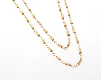Gold Chain, Gold Choker, Long And Layered Wrap Around Chain, Dainty Tube Chain, Many Lengths Available