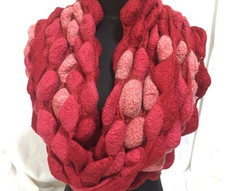 Snood-Wet Felted Merino and Silk