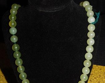 Jade round beads