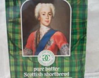 Williams Sonoma Scottish Shortbread Highlanders Tin Green Plaid