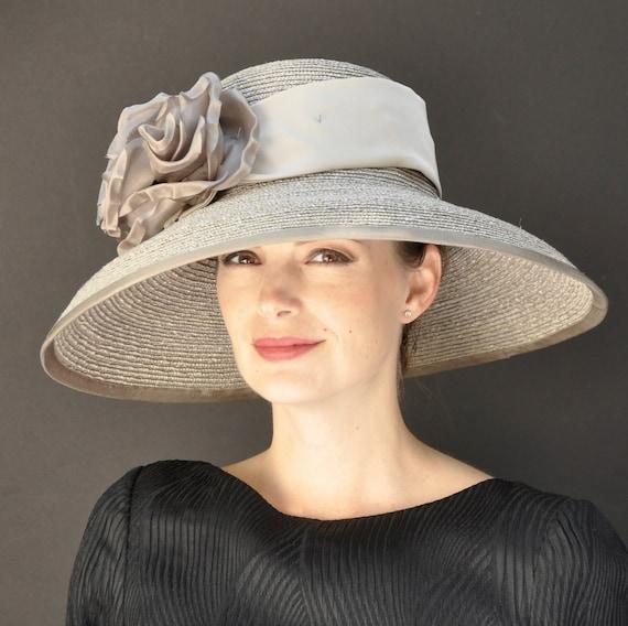 Wedding hat, Ascot Hat, Formal Hat, Occasion Hat, Taupe Hat, Audrey Hepburn Hat, Derby Hat