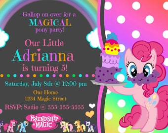 My Little Pony Invitation (Digital File)
