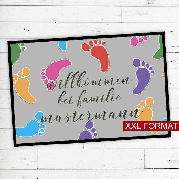 "Foot mat ""footprint"" with your name or text"