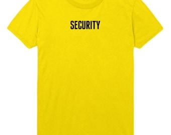 Security Tshirt Funny Slogan Mens Womens T shirt Top STP406