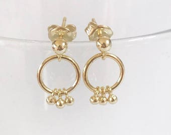 Tiny hoops, Boho hoops, Small hoops, Tiny Gold hoops, Tiny Silver hoops, Everyday hoops, Minimalist hoops, Dainty hoops, Delicate jewelry