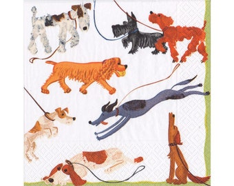 4 Paper Napkins for Decoupage, craft, 4 x 3ply 33cm 'Best in Show' Napkins