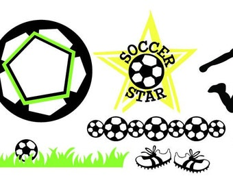 Soccer Vector Art SVG Files (with Commercial License)