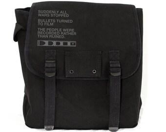 Backpack: Film v. Bullet - Canvas Backpack for Men & Women