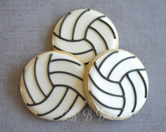 18 Volleyball Cookies!