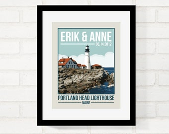 Anniversary Gift for Her, Honeymoon Keepsake, Gift for Him, Travel Poster Vintage Style, Wedding Gift for Couple, Custom Location Your Photo
