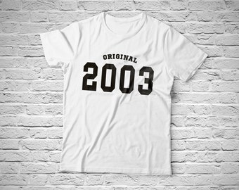 Original 2003, T-shirt with individual design, 100% cotton