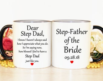 Step father gift, Step dad gift, Step father of the bride gift, Step father mug, Step dad mug, Father wedding gifts, Step dad wedding gift