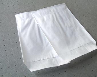 10 pockets 8 cm * 11 cm white Kraft gift bags
